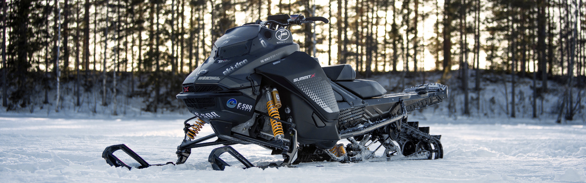 Öhlins universal front shock absorbers for snowmobiles